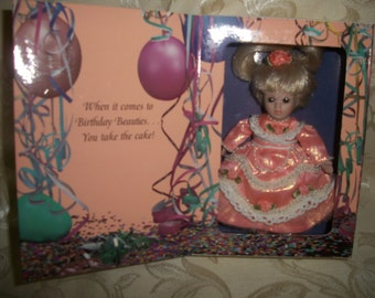 Vintage Marie Osmond Porcelain Doll Happy Birthday Greeting Card