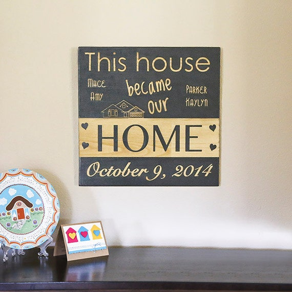 New home sign new home housewarming gift new home for Unique new home gifts