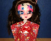 Red Posey Kimono for Little Pullip