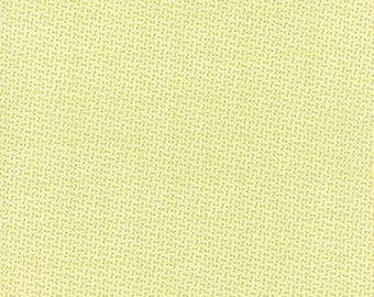 Green and Cream Pin Polka Dot Cotton Fabric, Miss Kate by Bonnie and Camille for Moda, Dot in Apple, 1 Yard