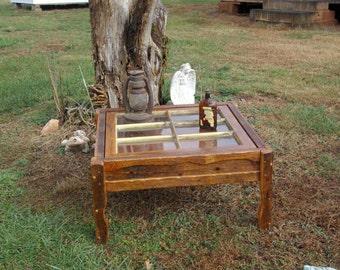 Rustic Shadow Box Window Coffee Table