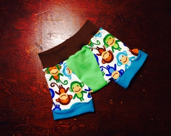 """Little Acorn Designs 6 pack """"just boxers"""" made of reclaimed cotton t-shirts"""