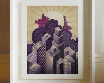 CityScape - Archival Giclee Print by Eoin Ryan