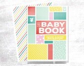 Modern Baby Book, perfect for documenting baby's first year. Cover is Personalized!