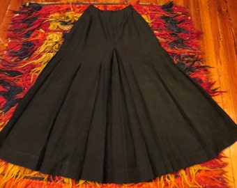 SALE NOW 225  Amazing Edwardian Black Walking Skirt