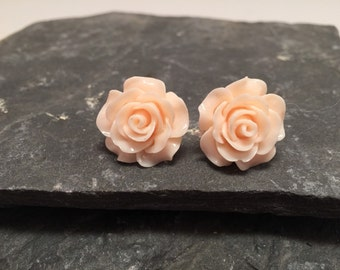 Resin earrings, resin studs, resin mum Stud earrings, flower earrings,  Stud earrings large 18mm