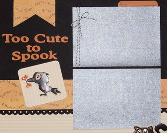 Halloween Scrapbook Page, Premade Halloween Scrapbook Album Page, 12 x 12 Halloween Scrapbook Pages, Halloween Page Layout