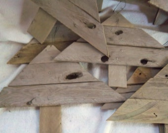 Handmade Rustic Vintage Wood Lattice Woodland Trees / Christmas Trees Rustic Wood