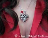 PERFUME LOCKET - Solid Sterling Silver Locket - Deep Midnight Perfumes - scent locket - heart locket - perfume locket - VALENTINE'S Day Gift