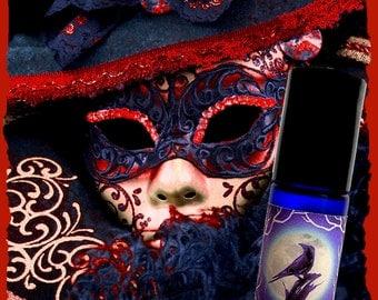 CARNIVALE ROUGE Perfume Oil - Dark cocoa, amber, amaretto liqueur, cream - GOTHIC perfume - Mardis Gras