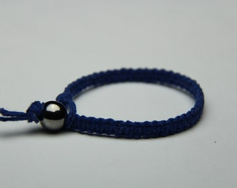 Royal Blue / Indigo Hemp Bracelet