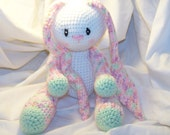 Cutest floppy crochet bunny rabbit Any colors you want