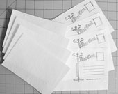 Quilted Postcard Supplies - Package of Four Fabric Postcard Fusible Stabilizers & Four Prestamped oversized fabric backings.
