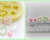 Valentine Cabochon Mold Heart Love Mold Flower Silicone Flexible Clay Resin Mould