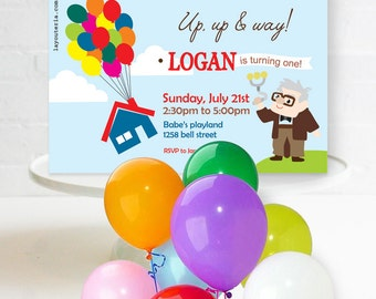 Up Invitation | Up Birthday | Up Invitation Printable | Up Decorations |Up Party