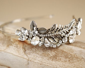 Bridal Crystal Headband, Vintage Inspired,Silver rhinestone Headband,  wedding hair accessories,