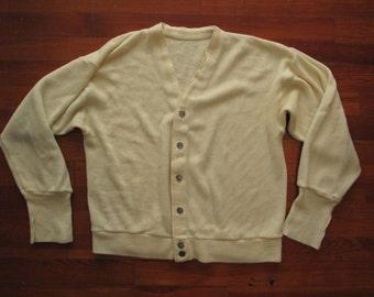 mens vintage button up cardigan.