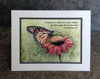 Butterfly Scripture Notecard