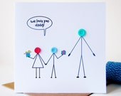 We Love You Daddy Card For Dad - Fathers Day Card - Dad Birthday - Birthday Cards for Him