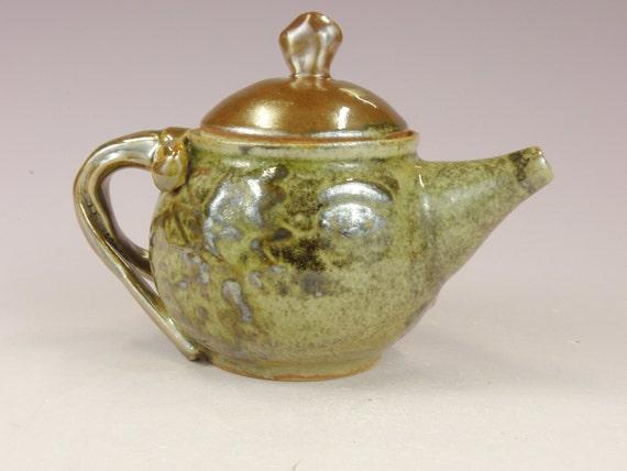 Greige Teapot.  Etsy teapot. Cute teapot.