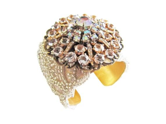 Wedding Cuff, Bridal Bracelet, Wedding Cuff, Bridal Jewelry, Cuff Bracelet, Vintage Wedding
