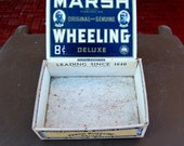 Vintage Marsh Wheeling brand cigar box. Deluxe. This a very old brand from West Virginia.