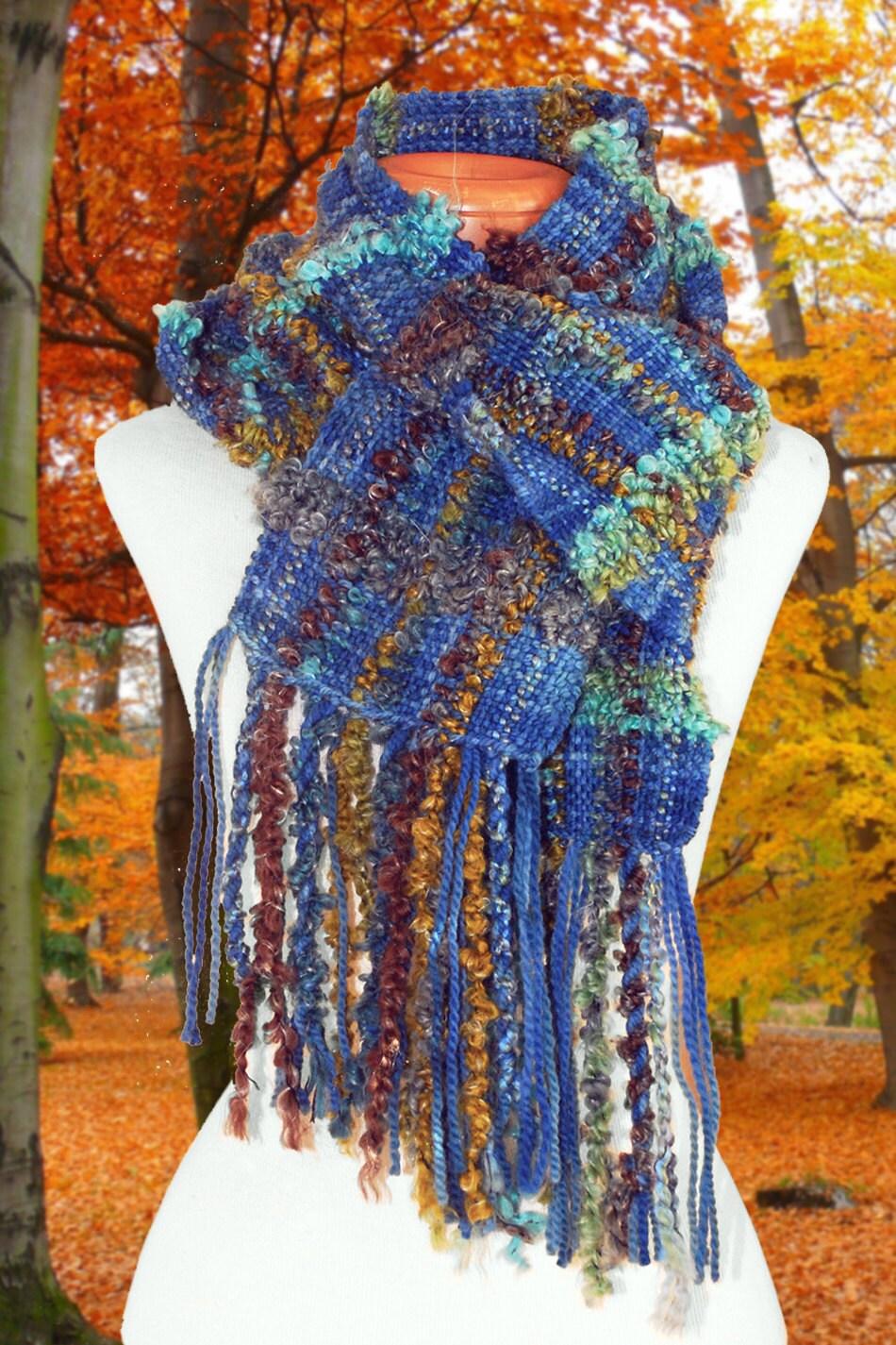 scarf wool scarf handwoven scarf scarves fiber scarf