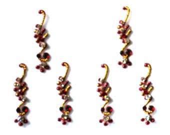 Swirl Bindi Self Adhesive Indian Dots Bollywood Folksy Big