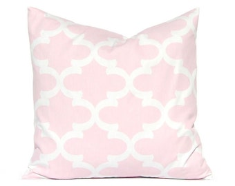 Baby Pink Pillow Covers, Pink Pillow Covers, Decorative Throw Pillow Covers Baby Girl Nursery Pink Grey  Pink Gray Chevron and Stripe