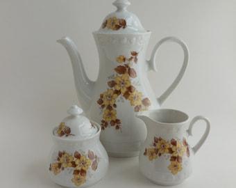 Winterling Bavarian China Coffee Pot, Sugar, and Creamer