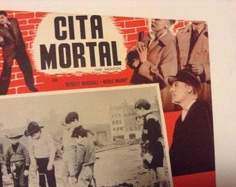 Vintage Original 1956 Crime Film Poster for The Weapon