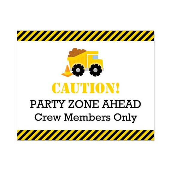 50 Off Sale Printable Construction Party Sign Instant Download