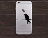 Barbed Wire Bird Vinyl iPhone Decal BAS-0111
