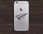 Paper Airplane Vinyl iPhone Decal BAS-0272