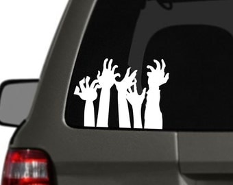 Zombie Hands Vinyl Car Decal BAS-0233