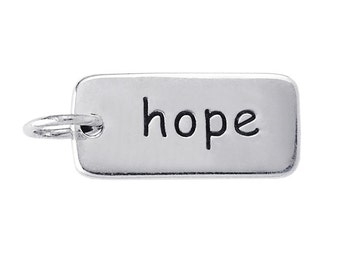 """Sterling Silver """"hope"""" Charm"""