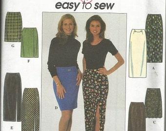 Simplicity 7881 Easy Skirt Pattern SZ 12-16