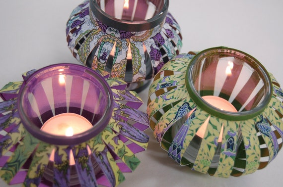 Paper Lantern TUTORIAL for Tealights and Votives PDF Files with Complete Instructions TUTORIAL 1