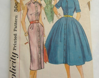 Simplicity Pattern 1946, Jr Misses' and Misses' Dress With Two Skirts, Size 14, Bust 34