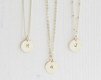 Gold Initial Necklace | Initial Necklace | Gold Monogram Necklace | Layering Necklace | Personalized Necklace | Minimal Initial Necklace