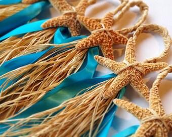 Starfish Aisle Markers, Chair Markers, Beach Wedding Decor, Starfish Lantern Hangers