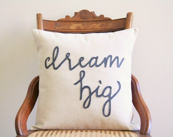 dream big throw pillow, nursery pillow, new baby gift, dream big little one, sweet dreams, baby pillow, typography