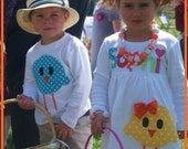 Sibling Easter Chick Dress and Boys Top Matching Set - Infant Toddler Youth Sizes