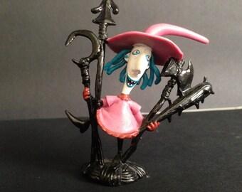vintage Tim Burton's Nightmare Before Christmas pvc plastic Shock figurine