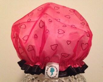 Premium Quality Luxury Spa Shower Cap: Valentine, Be Mine