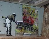 Banksy Art Print  - Robbo - Multiple Paper Sizes