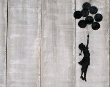 Banksy Canvas (READY TO HANG) - West Bank Balloons - Multiple Canvas Sizes