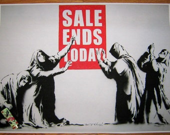 Banksy Art Print  - Sale Ends Today - Multiple Paper Sizes