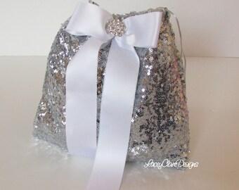 Wedding Dollar Dance Bag / Bridal Money Bag / Wedding Purse / Dollar Dance / Wedding Money Bag / Money Purse / Sequin Dance Bag / Custom