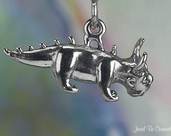 Sterling Silver Chupacabra or Hodag Charm Folklore Animal 3D Solid 925